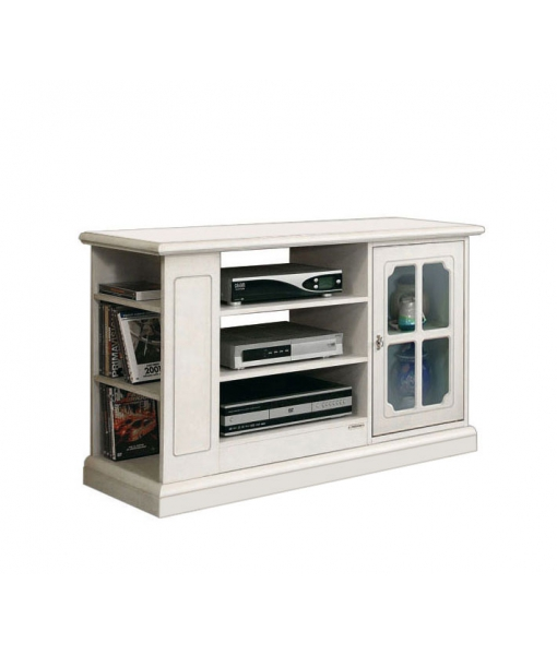 Living room Tv unit with side shelves. Sku 3651-lav