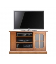 Wooden TV stand with side shelving, wooden Tv unit, Living room Tv cabinet, wooden cabinet, Tv unit with open shelving, Arteferretto furniture, Arteferretto TV unit