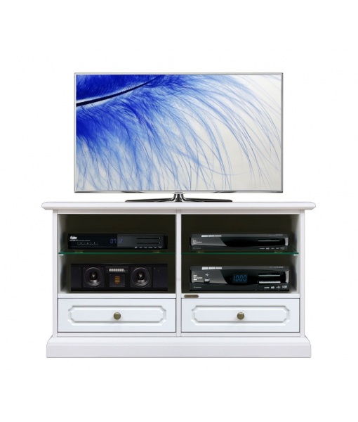 Wooden tv stand with drawers and adjustable shelves, Tv unit for living room. Sku 3800-AV