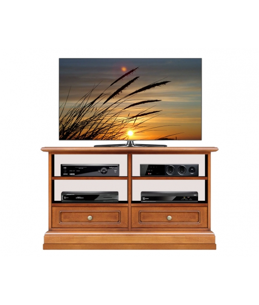 2 drawers Tv unit in wood for living room. Sku 3800-qz