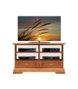 2 drawers TV unit, wooden TV cabinet, TV unit, Living room furniture, Arteferretto furniture, Arteferretto TV cabinet, Italian design Tv unit