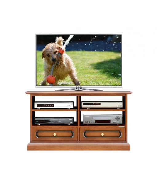 Small tv stand in wood 2 drawers. Sku  3800