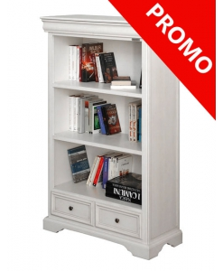 small wooden bookcase, white bookcase, office bookcase, 3 drawers bookcase, wooden bookcase, low bookcase, office cabinet, office furniture, living room furniture, study room furniture