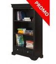 black bookcase, wooden bookcase,