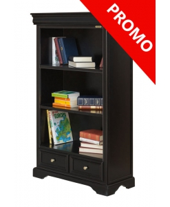 black bookcase, wooden bookcase,