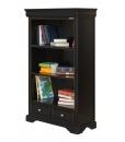 black bookcase, bookcase, Louis Philippe bookcase, wooden bookcase