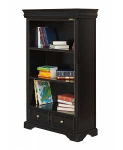 black bookcase, bookcase, Louis Philippe bookcase, wooden bookcase