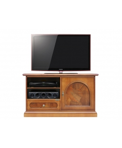 Small Tv unit with briar root, wooden Tv unit, Wooden Tv cabiet, solid structure, great functionality Tv cabinet, classic style Tv unit, Tv stand in classic style, TV unit in wood, Arteferretto furniture, Arteferretto cabinet, Arteferretto TV unit