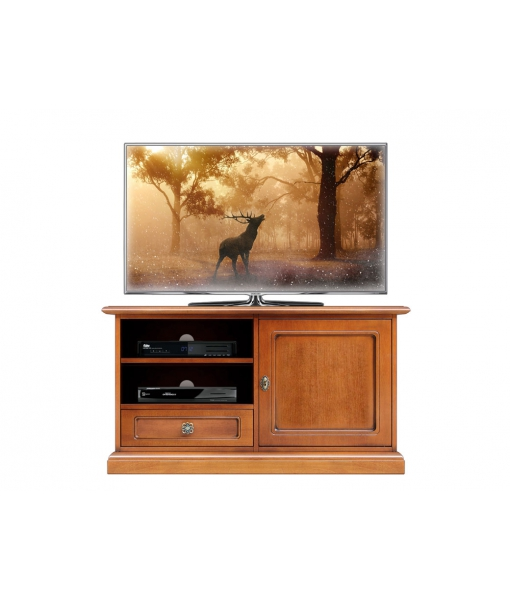 Space saving tv unit in wood for living room. Sku 3820-qpz