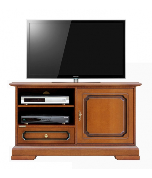 Small TV cabinet in wood, living room entertainment unit. Sku  3820-SZ