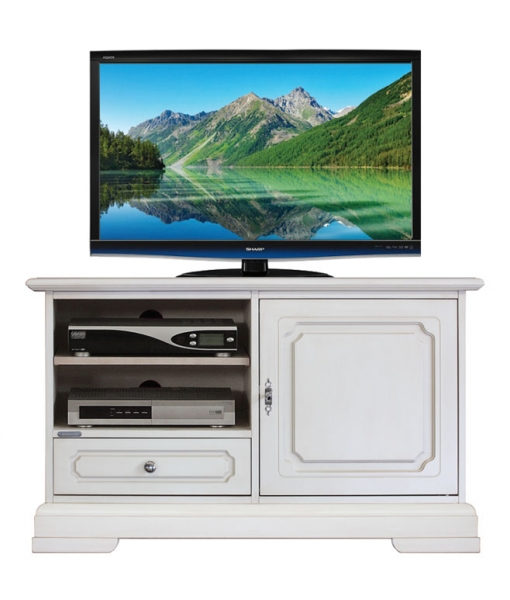 small TV cabinet, TV unit, Arteferretto TV cabinet, Arteferretto furniture, wooden furniture, wooden TV unit, solid wood unit, 1 door cabinet, small cabinet for living room, lacquered Tv unit, handcrafted Tv cabinet