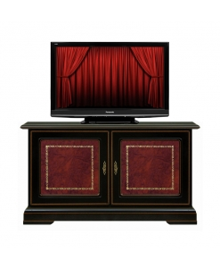 black tv cabinet, black cabinet, wooden cabinet, classic furniture, black cabinet with leather,