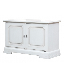 small wooden cabinet, white cabinet, low cabinet, low sideboard, white furniture, lacquered cabinet, lacquered sideboard, sideboard for living room, living room furniture