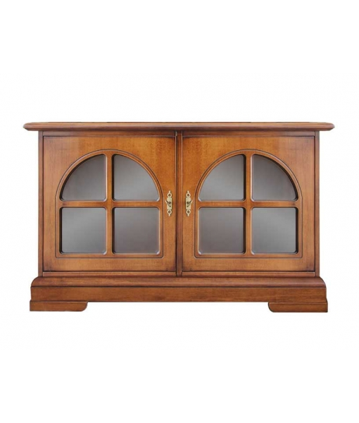 Living room low sideboard with glass doors. Sku 3838-Z