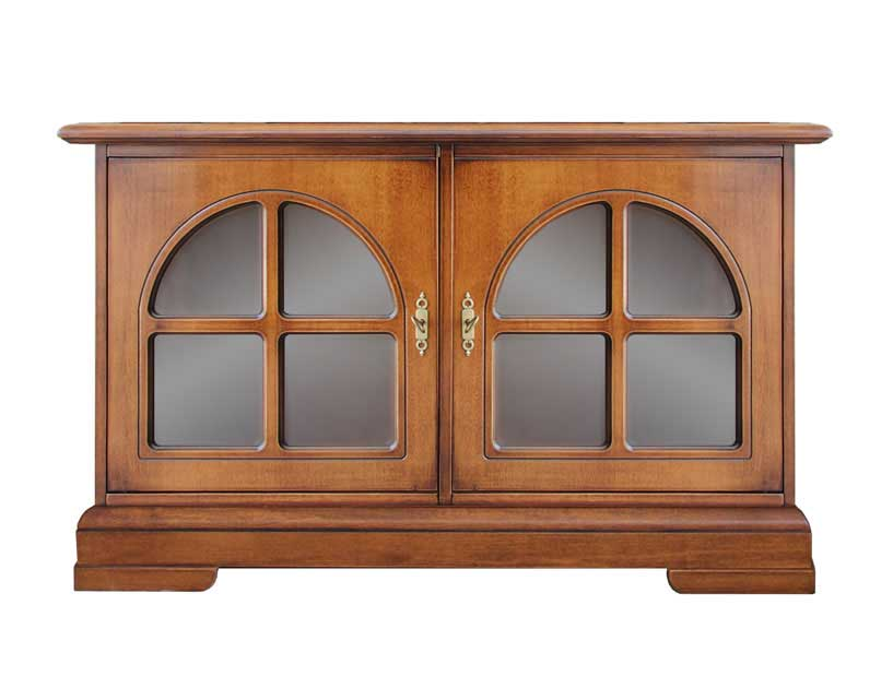 Low Sideboard In Wood For Living Room Small Cabinet With Glass