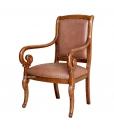 living room armchair in wood, wooden armchair, Italian design armchair, classic armchair, Solid wood armchair,