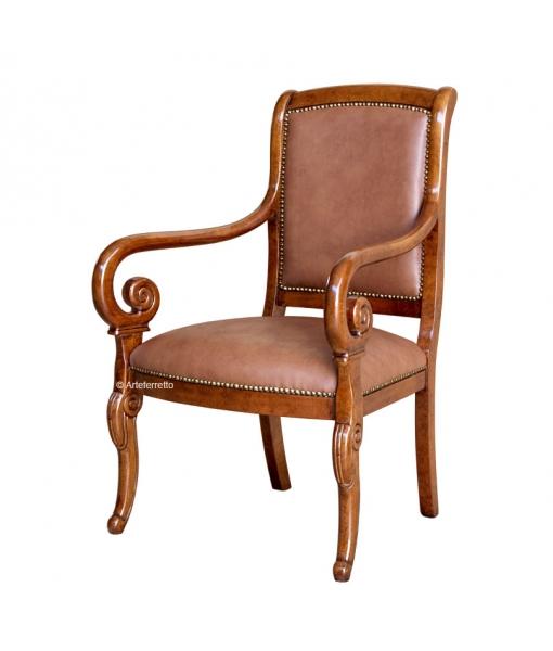Living room armchair in wood. Sku 38