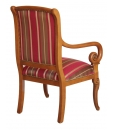 living room armchair in wood, wooden amrchair, classic armchair, solid wood armchair