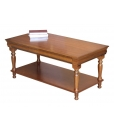coffee table in Louis Philippe style, coffee table, wooden coffee table, coffee table with bottom shelf, classic style
