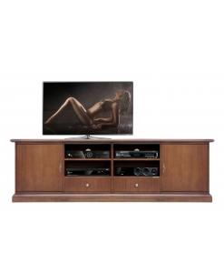 low tv stand 200 cm, wooden tv cabinet, tv unit for living room, Arteferretto tv cabinet, Arteferretto furniture,