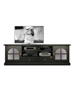 black tv cabinet, black tv unit, living room unit, wood furniture, black furniture, 2 doors 2 drawers cabinet for living room, italian design