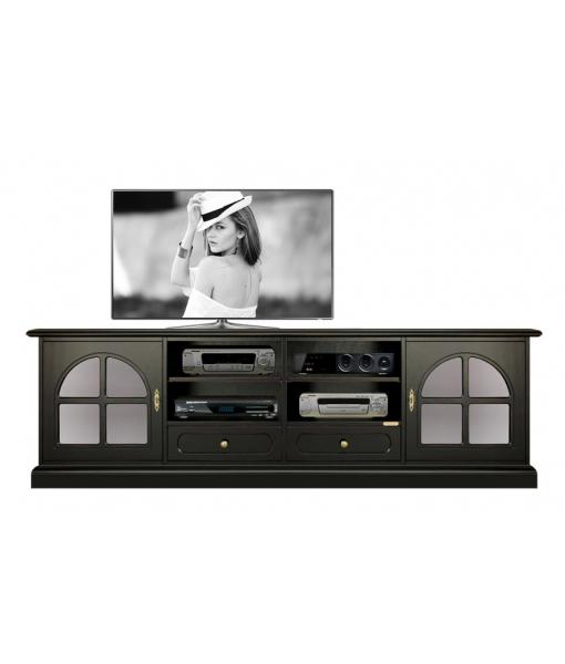 Black tv cabinet. Sku 4010-bw