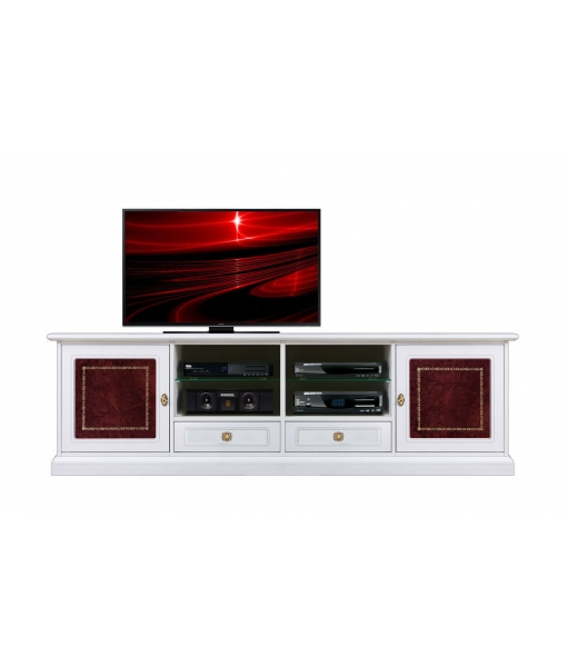 Tv unit 2 meters long with leather, SKU: 4010-HQ