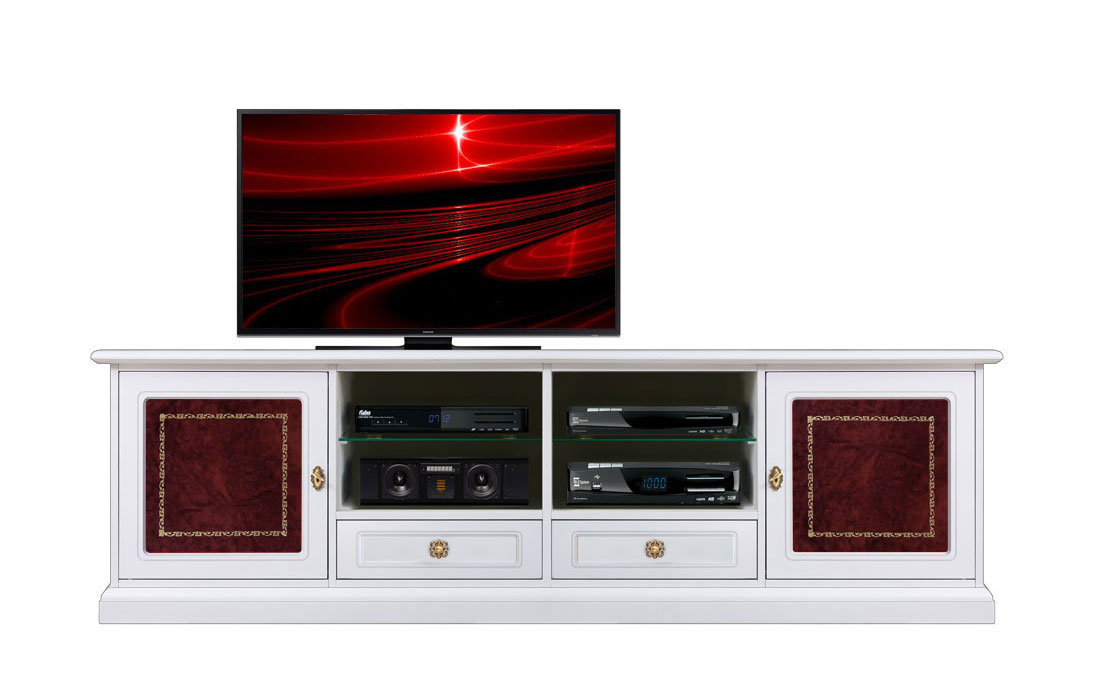 Tv Unit 2 Meters Long White Wood Tv Stand Living Room Cabinet With