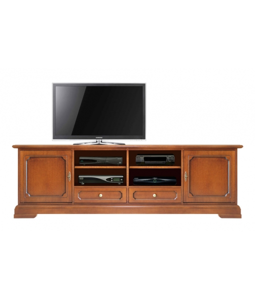 2 Meters tv unit in wood. Sku 4010-LBZ