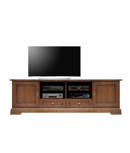 classic tv unit, tv unit 2 metres, wooden tv cabinet, living-room furniture, tv stand cabinet, wooden furniture, italian design, classic style, Item n° 4010-QPZ