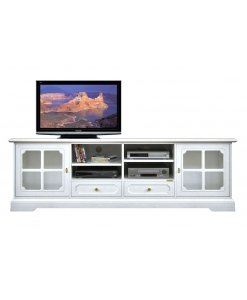 lacquered wooden tv stand, tv stand, wooden tv stand, tv cabinet, white cabinet, living room furniture, tv unit with glass doors,