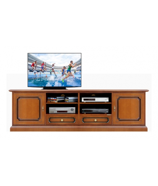 2 meters Tv cabinet in wood. Entertainment tv unit. Sku 4010-s
