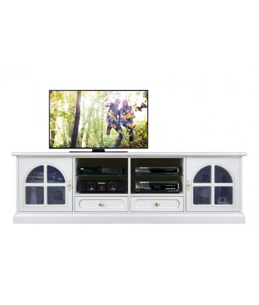 2 metres glass door tv unit for living room. Sku 4010-TVG