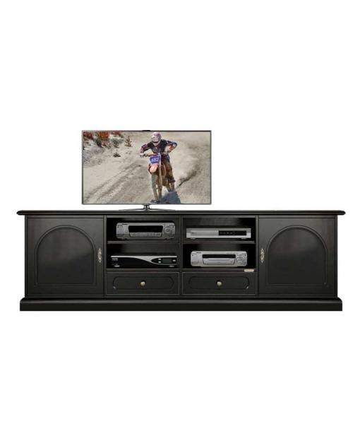 Black tv cabinet 2 doors art. 4011-bb
