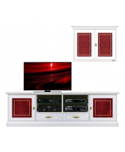 cabinet for living room, wall unit tv stand, tv stand, wall unite, furniture for living room, white furniture, italian design furniture, wall composition, wall composition lwhite and red leather