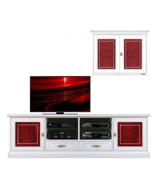 Wall unit tv stand and wall cabinet for living room . sku. 4015-HQ
