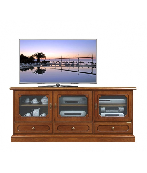 Classic Tv sideboard 3 doors, 3 drawers. Sku 4025-SV
