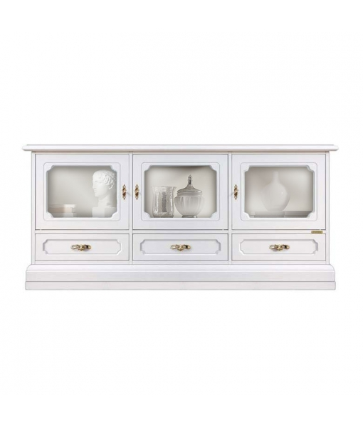 living room display cabinet, wooden TV cabinet, living room unit in wood, wooden cabinet, white cabinet, white display cabinet, Arteferretto furniture, Arteferretto TV unit, Arteferretto sideboard, Living room cabinet,