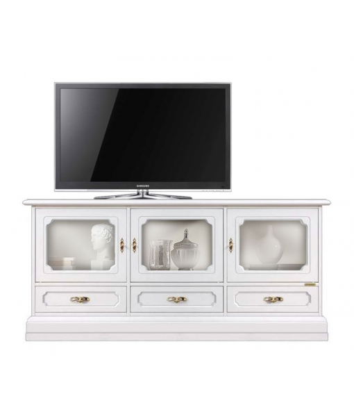 Living room diplay cabinet with 3 glass doors. Sku 4025-zbi