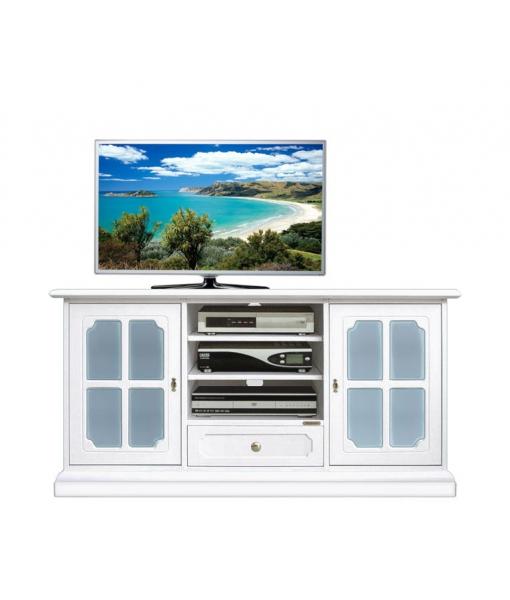 Blue glass Tv sideboard. Sku 4040-bc