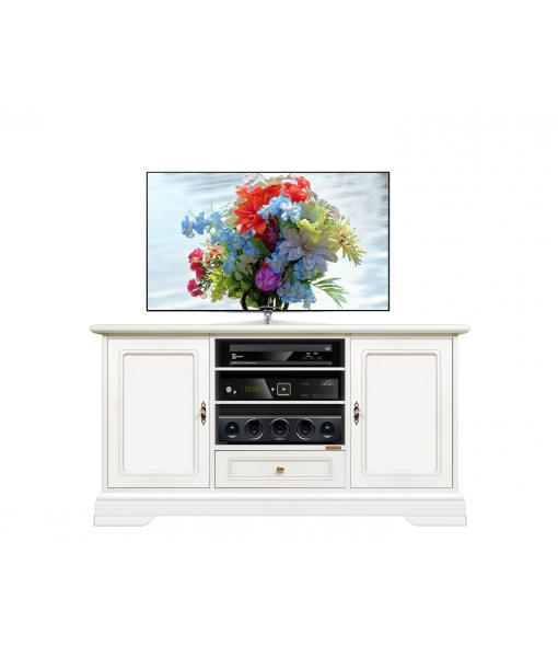Lacquered entertainment cabinet in wood. Sku 4040-QPZ