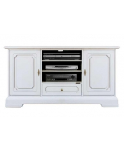 wooden entertainment unit, wooden tv cabinet, Arteferretto furniture, Arteferretto Tv cabinet, Tv stand, white Tv stand, wooden unit, living room cabinet, classic style cabinet, Italian design TV entertainment unit