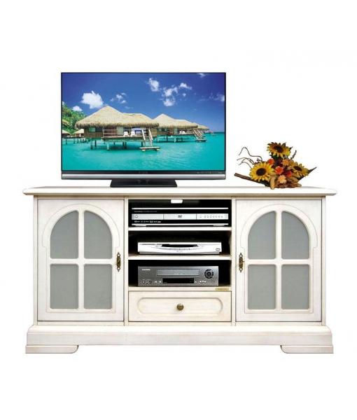 Glass doors entertainment Tv unit. Sku 4040-TG-ZP