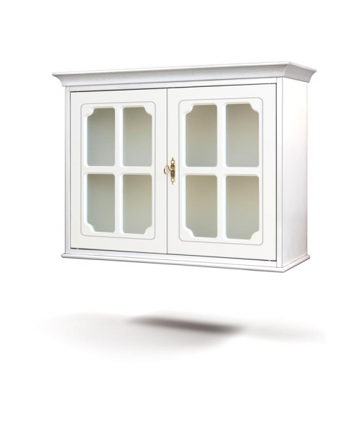 Display cabinet, wall cabinet with glass door, wall cabinet, wooden wall cabinet, kitchen furniture, living room furniture, Item n° 4050-svg