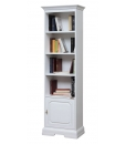 Wooden bookcase, white bookcase, space saving nookcase, bookcase, wooden bookcase