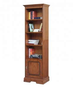 space saving bookcase, wooden bookcase, living room bookshelf, office cabinet