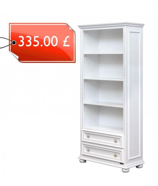 Open shelving bookcase with drawers. Sku 417-av