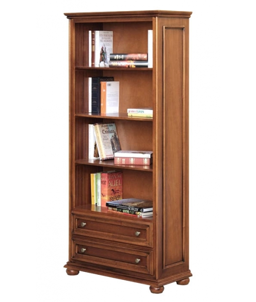 Classic bookcase with 2 drawers. Product code: 417