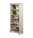 open shelving bookcase, bookcase, wooden bookcase, office bookcase, white bookcase, tall bookcase, study room furniture, living room furniture, classic bookcase
