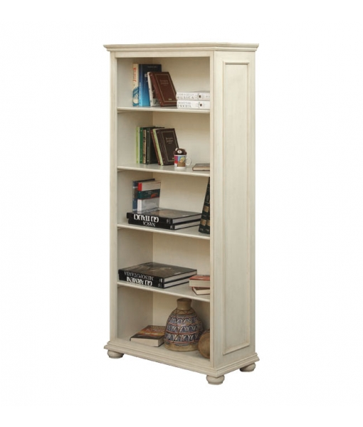 Open shelving bookcase in wood. Office or study room bookcase. Sku 419-AV